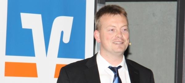 Michael Kopmann, Leiter Privatkundenstrategie Aktien und strukturierte Produkte bei der DZ BANK AG, bei seinem Vortrag