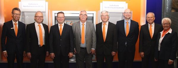 Volksbank Nordschwarzwald eG verabschiedet langjährige Mitarbeiter und ernennt Prokuristen
