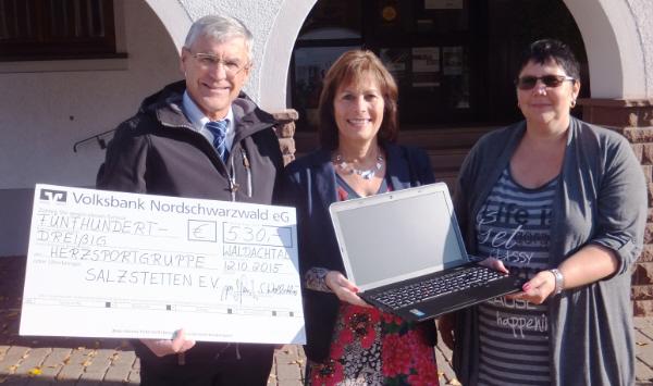 Spende Laptop Herzsportgruppe Salzstetten