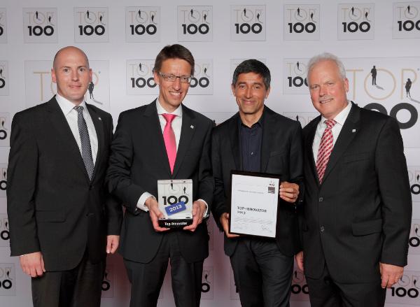 Auszeichnung TOP 100 Innovator 2013 für Volksbank Nordschwarzwald eG